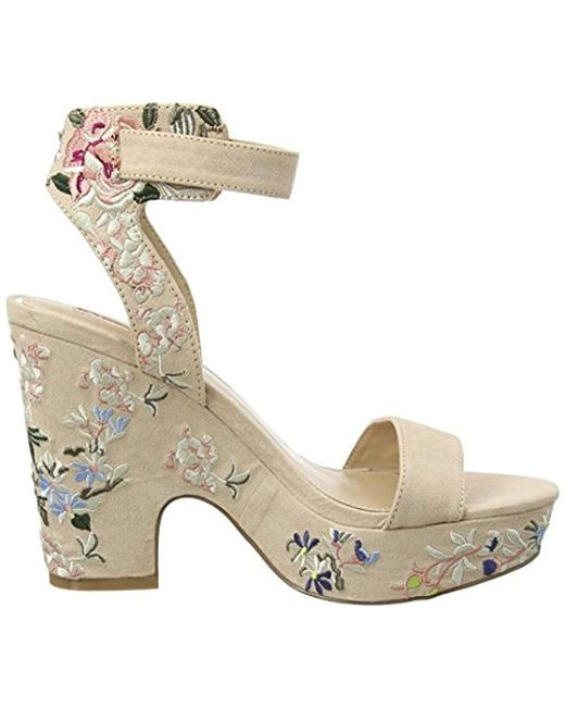 e6b61d06b070b4 ... Miss Selfridge - Multicolor  s Embroidered Ankle Strap Sandals ...