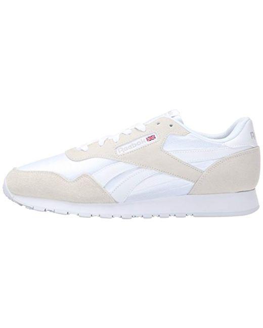 603a1fa3d4b45 ... Reebok - White Royal Nylon Classic Sneaker Fashion for Men - Lyst ...