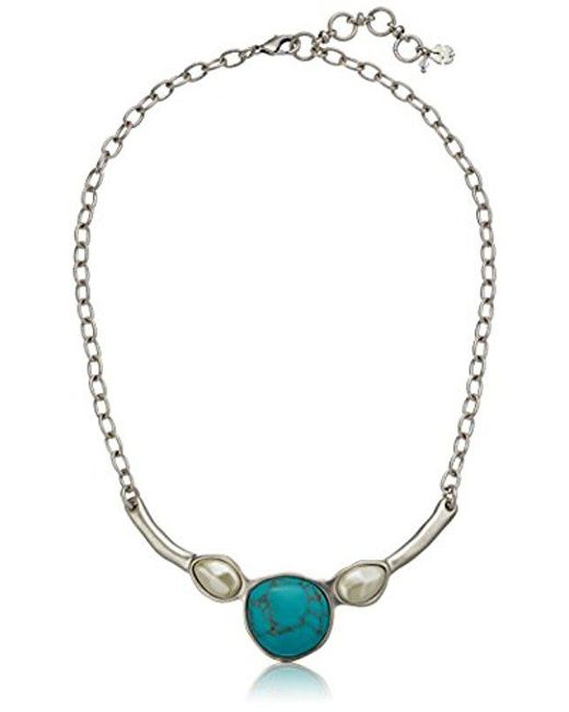 Lucky Brand - Metallic S Turquoise Collar Necklace - Lyst