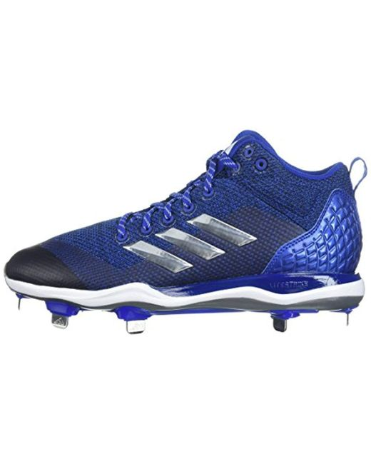 95414fd96bd ... CLEATS - MENS  size 40 17fbf b0229 ... Adidas - Blue Poweralley 5 Mid  Cleat Baseball for