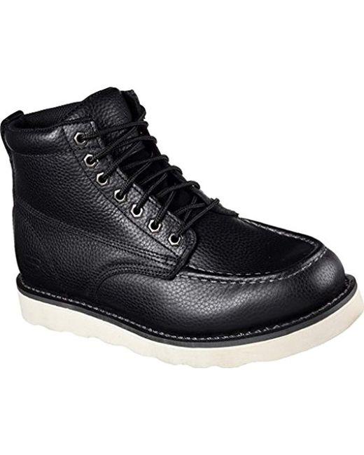 Skechers - Black For Work Pettus Boot for Men - Lyst