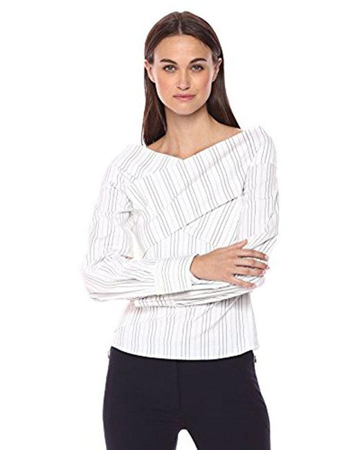 Theory - White Wrapped Top - Lyst