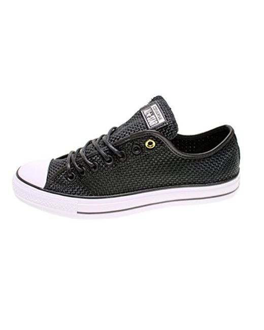 5928cc8114fb Converse - Black Unisex Chuck Taylor As Double Tongue Ox Lace-up for Men ...