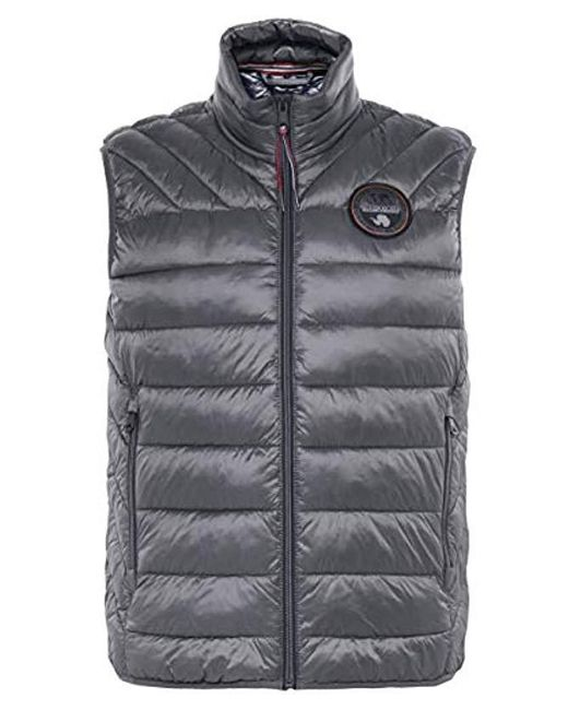 Napapijri - Gray Padded Aerons Gilet for Men - Lyst