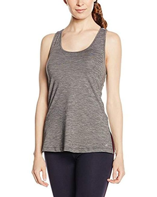 Tommy Hilfiger - Gray Th Long Side Slits Tank Sports Top - Lyst