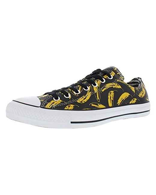 Converse - Black Andy Warhol Banana Leather Ox Sneakers for Men - Lyst