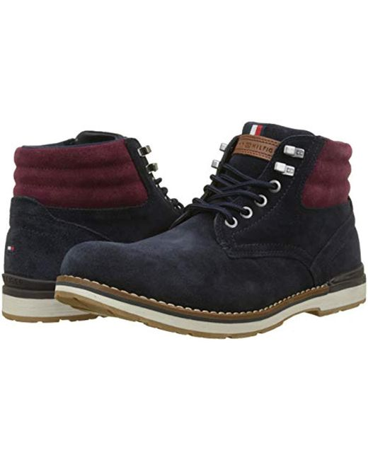 127ae4e47 ... Lyst Tommy Hilfiger - Blue  s Outdoor Suede Boot Combat for Men ...