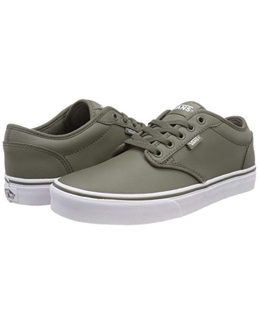 fdc6d6922 ... Vans - Green Atwood Synthetic Leather Low-top Sneakers for Men - Lyst  ...