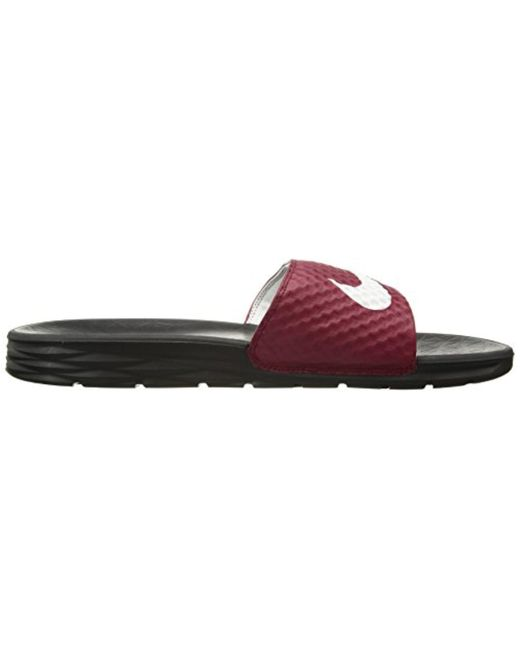 3436b1136ca4 ... Nike - Red Benassi Solarsoft Slide Sandal for Men - Lyst ...