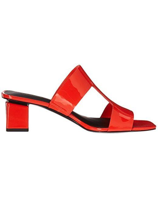 Via Spiga Florence Leather Block Heel Sandal eoqaD35ORW