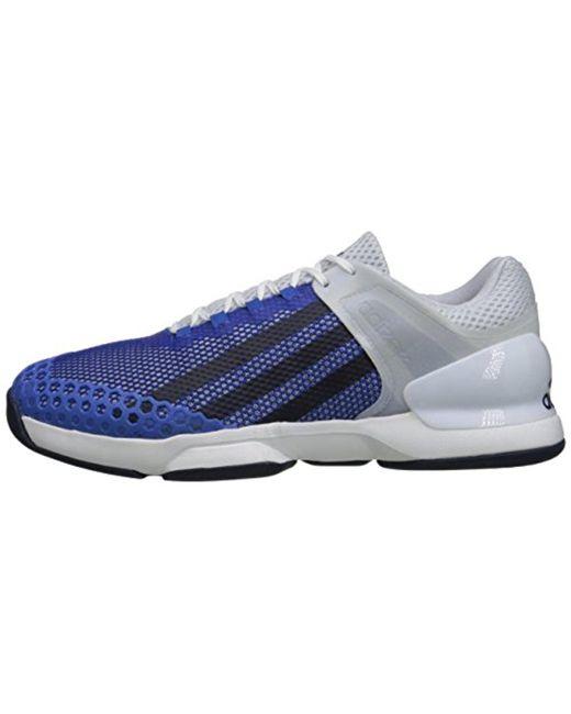lyst adidas performance adizero ubersonic scarpa da tennis in blu per gli uomini.