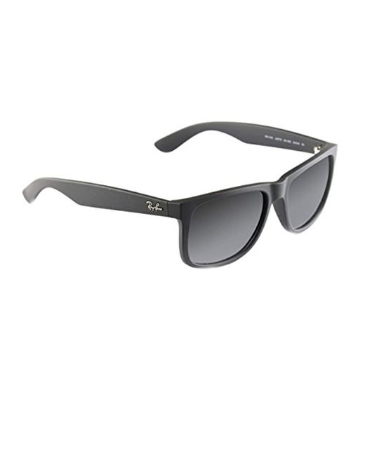 1f85b7fc92 Ray-Ban - Black Unisex Justin Wayfarer Non-polarized Sunglasses for Men -  Lyst