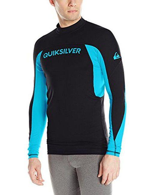 Quiksilver - Black Performer Long Sleeve Surf Tee Rashguard for Men - Lyst