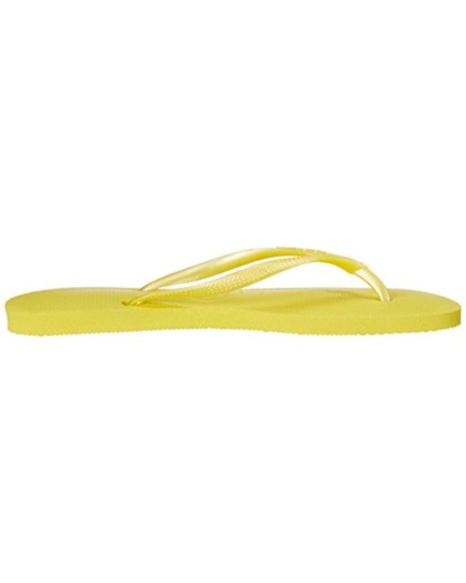 299a5e8f3 Lyst - Havaianas Slim Flip Flop in Yellow - Save 44%