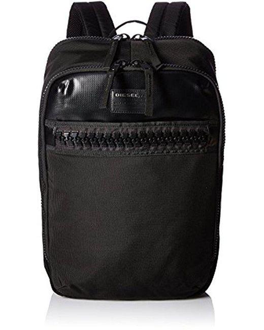 DIESEL - Black Ziiip Backpack for Men - Lyst