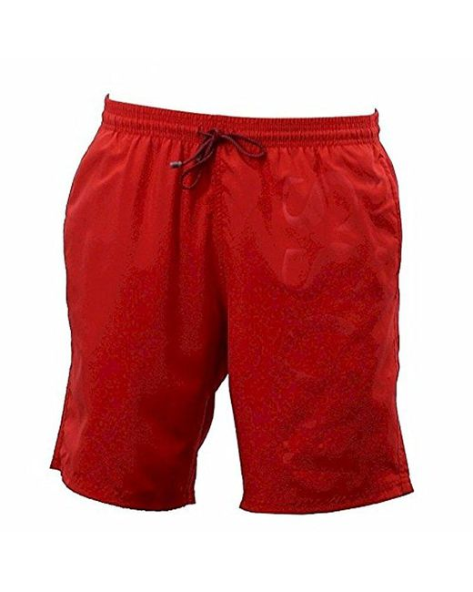 BOSS - Red Boss Orca Solid Swim Trunk for Men - Lyst