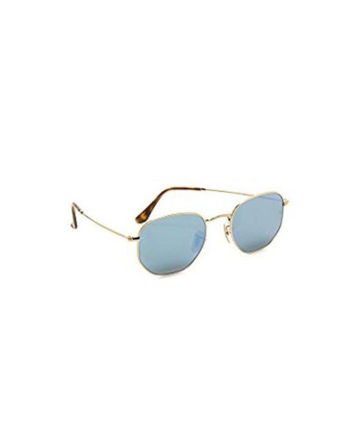 4484a732afa Ray-Ban - Multicolor Rb3548n Hexagonal Flat Lenses Sunglasses for Men - Lyst  ...