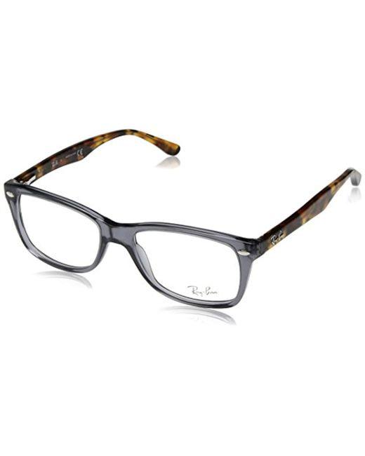 7bbbd0b18a Ray-Ban - Gray RX5228 Gafas en ópalo gris la Habana RX5228 5629 50 for ...