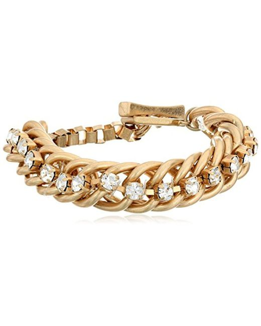 """Kenneth Cole - Metallic """"social Items"""" Faceted Bead Toggle Link Bracelet - Lyst"""