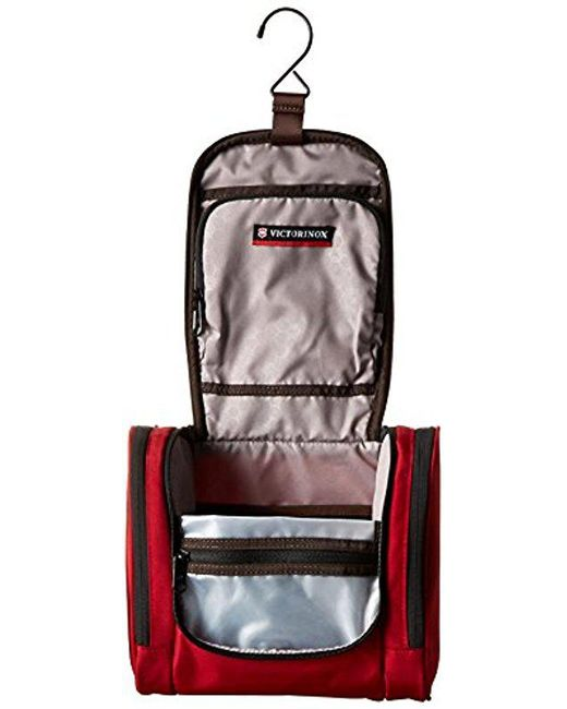 Victorinox Red Hanging Toiletry Kit For Men Lyst