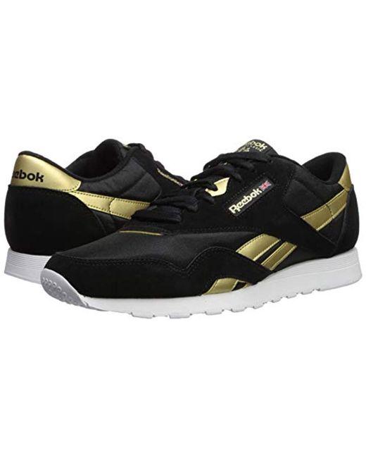 093da427387 ... Reebok - Black Classic Nylon Sneaker for Men - Lyst ...