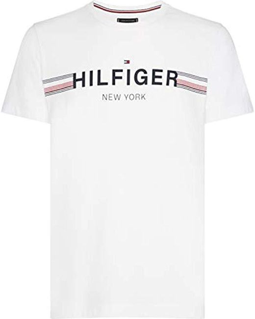 559ebba9 Tommy Hilfiger - White Corp Flag Tee Short Sleeve T for Men - Lyst ...