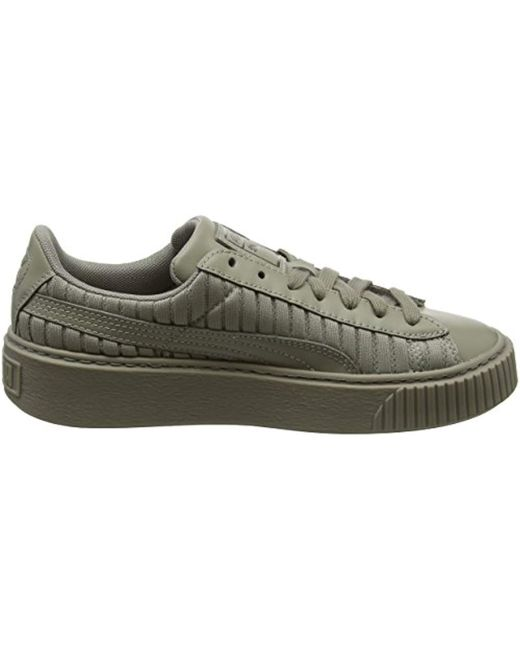 new style 2c1ab 756c7 PUMA Basket Platform Ep Wn's Trainers in Green - Save 75% - Lyst