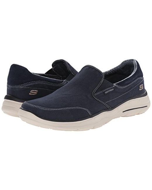 ... Skechers - Blue Usa Glides Adamant Slip-on Loafer for Men - Lyst ...