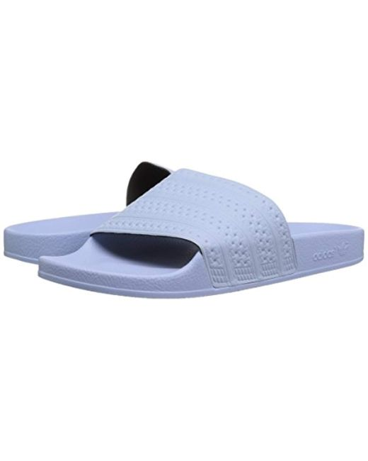buy online 8c139 720fe ... Adidas - Blue Originals Adilette Slip-on Slides for Men - Lyst ...