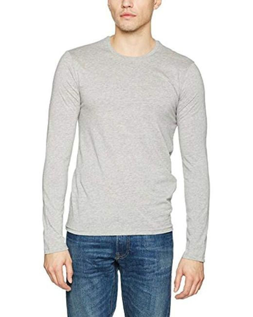Benetton - Gray T-shirt L/s for Men - Lyst