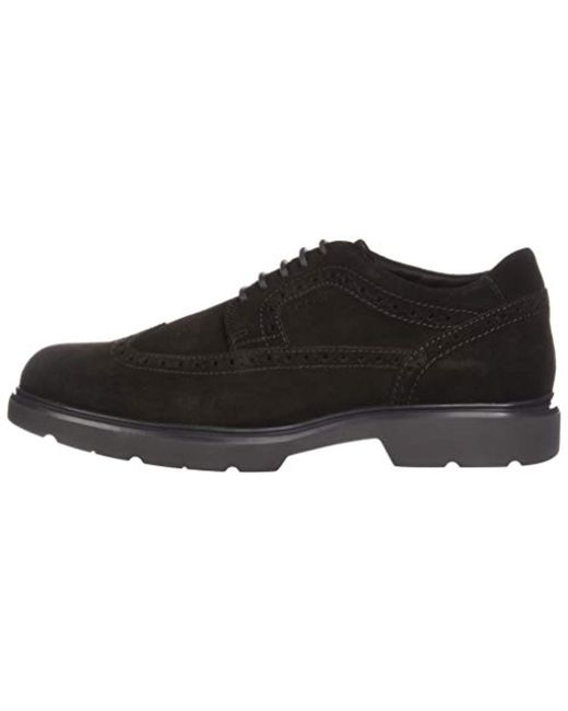 Geox  s U Arrall B Brogues in Black for Men - Lyst 07430dc0f39