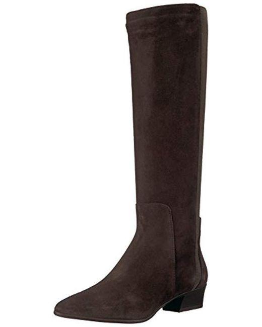 Aquatalia - Brown Federica Suede Equestrian Boot - Lyst