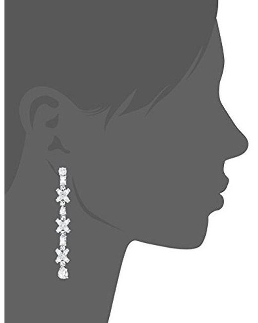 Kate Spade - Metallic Take A Shine Linear Silver Drop Earrings - Lyst
