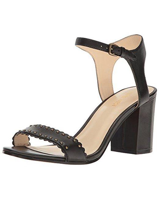 Nine West - Black Gurl Leather Dress Sandal - Lyst