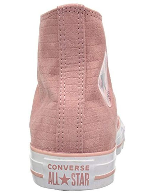 ad48ed95283 Lyst - Converse Ctas Hi Rust Pink black white Sneaker in Pink - Save 3%