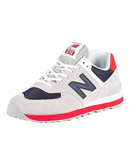 Men's White Iconic 574 V2 Sneaker