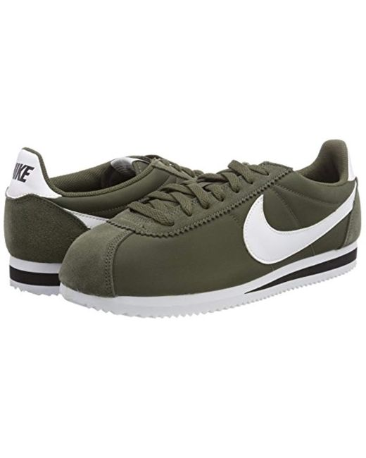 reputable site fd491 afc73 ... Nike - Green Classic Cortez Nylon Running Shoes for Men - Lyst ...