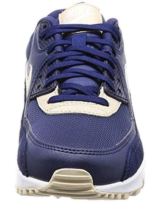 buy online f19ea a8894 ... Nike - Blue Wmns Air Max 90 Gymnastics Shoes - Lyst ...