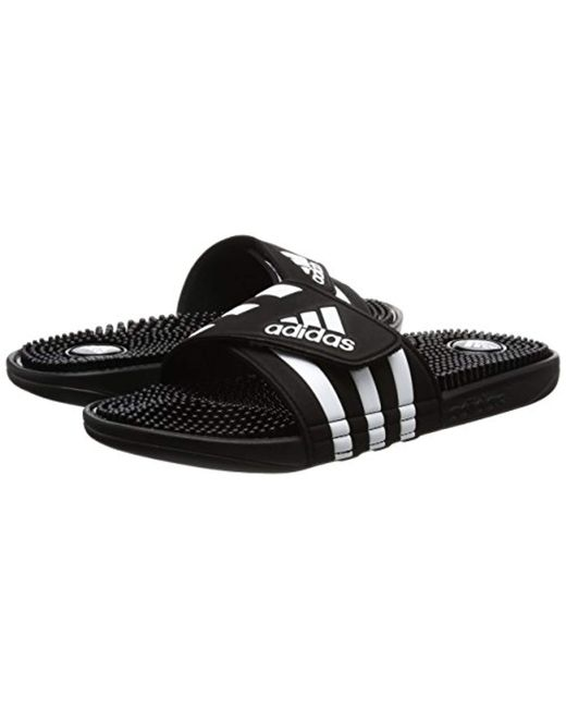 a5b401d1e Adidas Uni S Adissage Beach Pool Shoes In Black For Men
