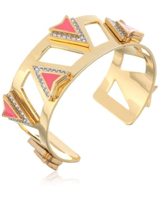"""Juicy Couture - Multicolor """"deco'd Out"""" Open Spike Cuff - Lyst"""