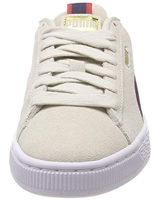 96cba802d6e0 ... PUMA - Gray Unisex Adults  Suede Classic Sport Stripes Low-top Sneakers  for Men ...