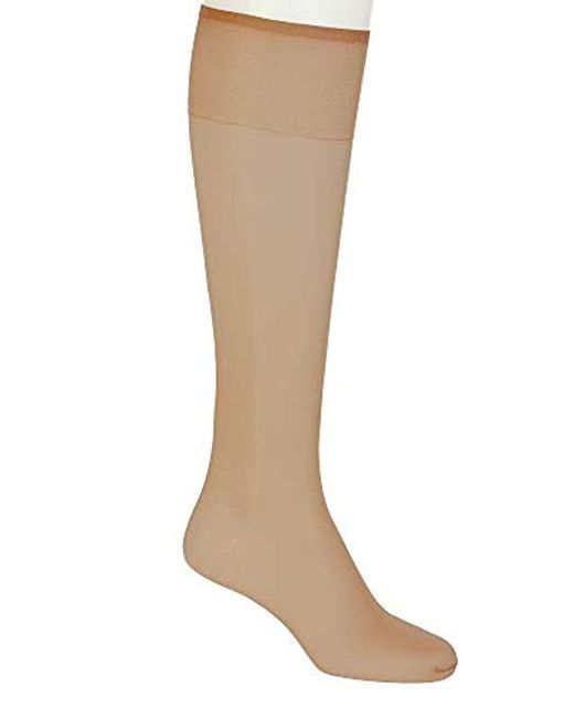 32097eb0a Hanes - Brown Silk Reflections 2-pack Knee High Sandalfoot - Lyst ...