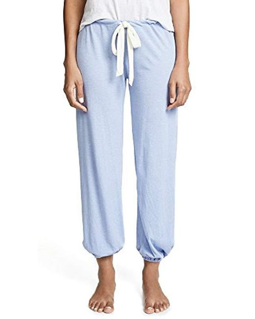 Eberjey - Blue Heather Cropped Pant - Lyst