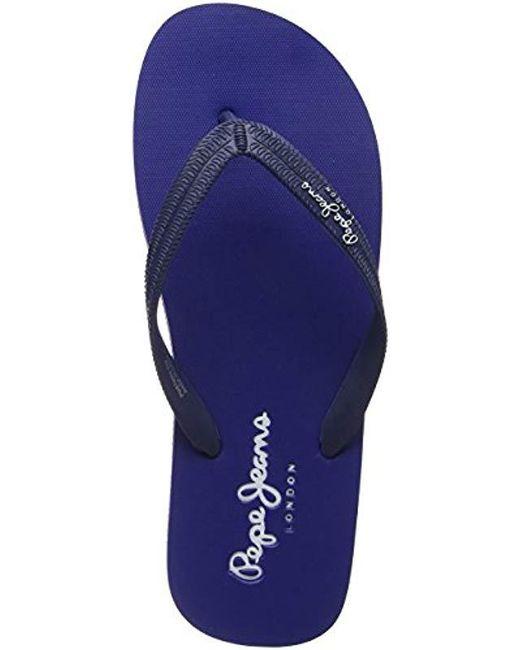 38d42965836f36 Pepe Jeans - Blue Swimming 2.1 Flip Flops for Men - Lyst ...