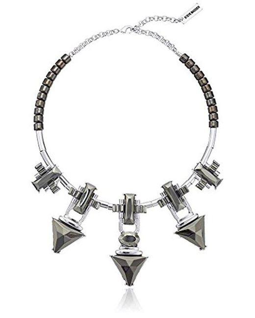 Steve Madden - Metallic Spike Statement Collar Necklace - Lyst