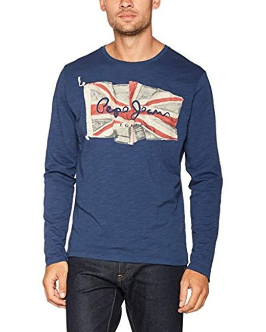 Pepe Jeans - Blue Long Sleeve Top for Men - Lyst