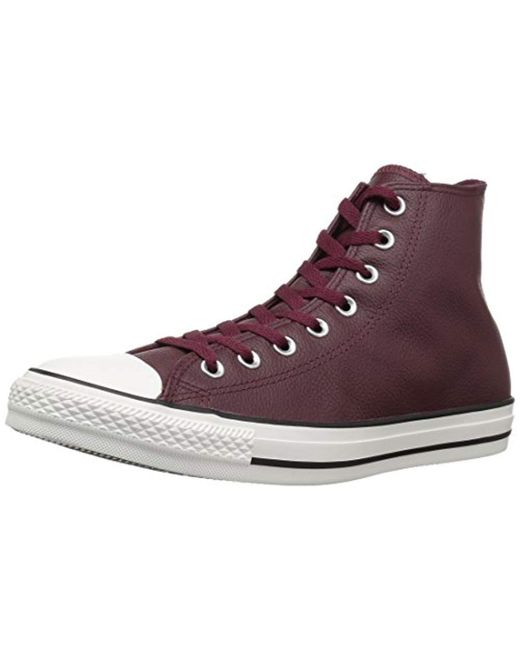 87b3d4bf74639d Converse - Purple Chuck Taylor All Star Tumbled Leather High Top Sneaker  for Men - Lyst ...