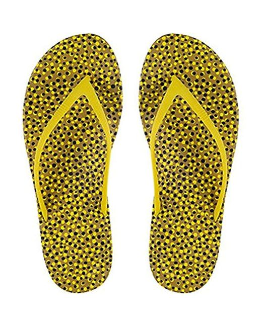 Fitflop - Yellow Iqushion Ergonomic Flip-flops - Lyst