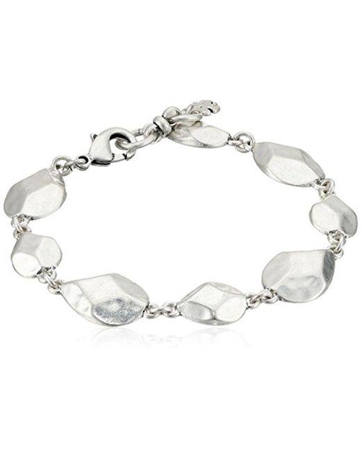 Lucky Brand - Metallic Geometric Link Bracelet - Lyst