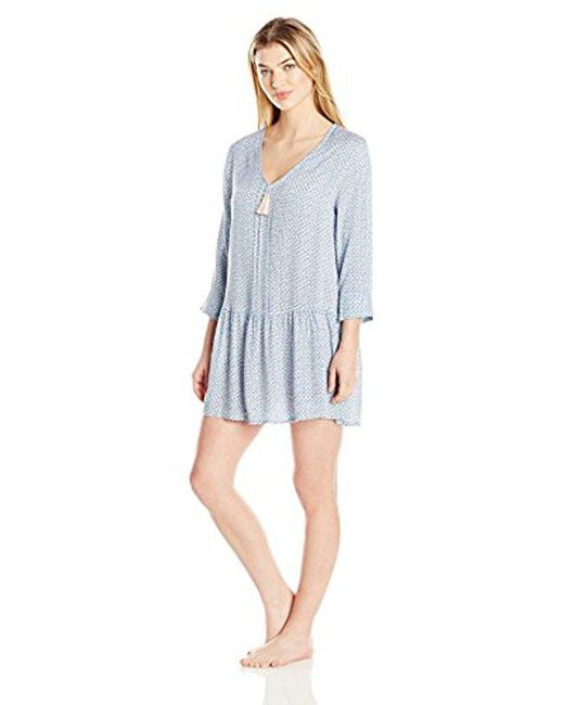 Lucky Brand - Blue Sleep Dress - Lyst